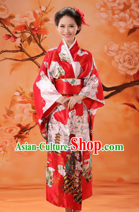 Japanese Classical Red Dance Costume for Women