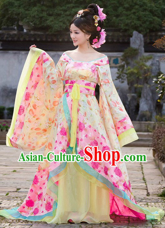Ancient Chinese Beauty Yang Guifei Costumes