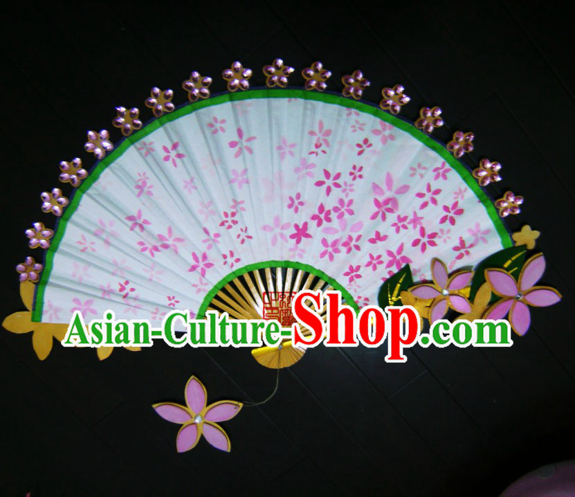 Ancient Chinese Princess Handmade Pink Flower Fan