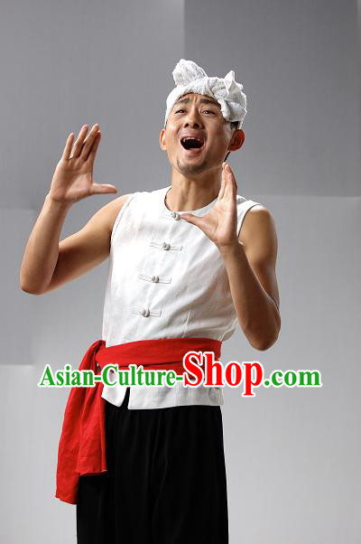 Chinese Farmer Costume Clothes for Men