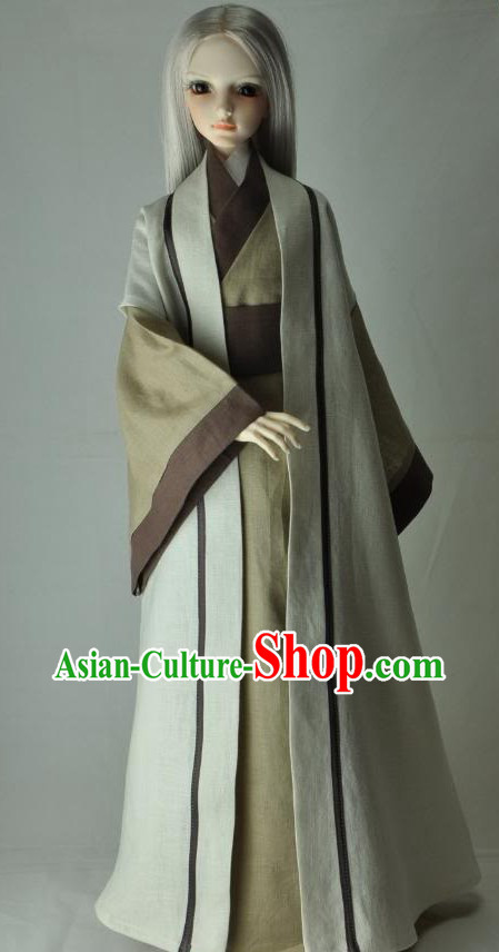 Ancient Chinese Cotton Han Fu Clothing for Men