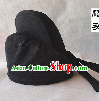 Ancient Chinese Fighter Knight Black Cloth Hat