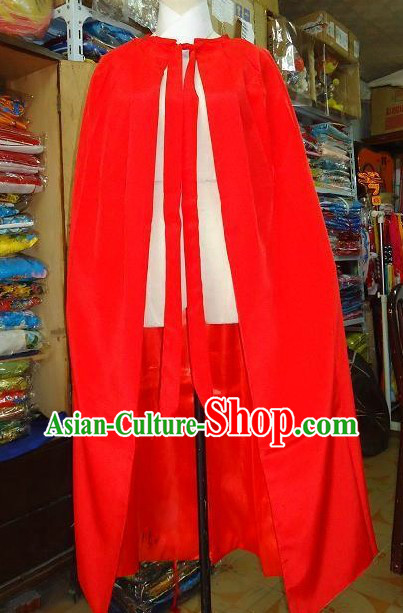 Ancient Chinese Red General Fighter Cape