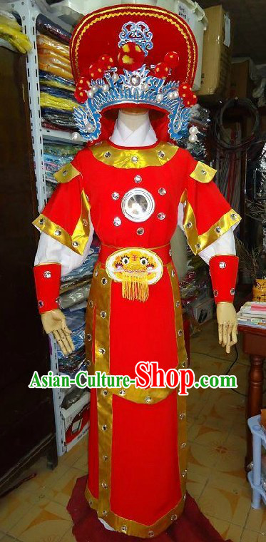 Chinese Opera Hua Mulan Costumes Full Set for Children
