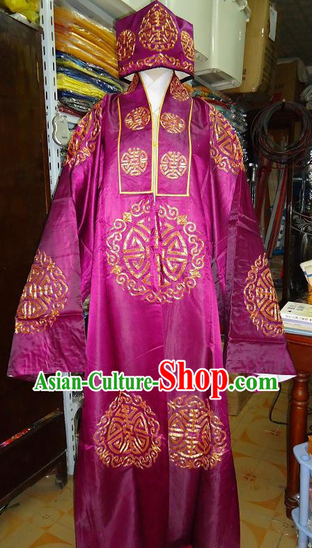 Ancient Chinese Rich People Costume and Hat for Men