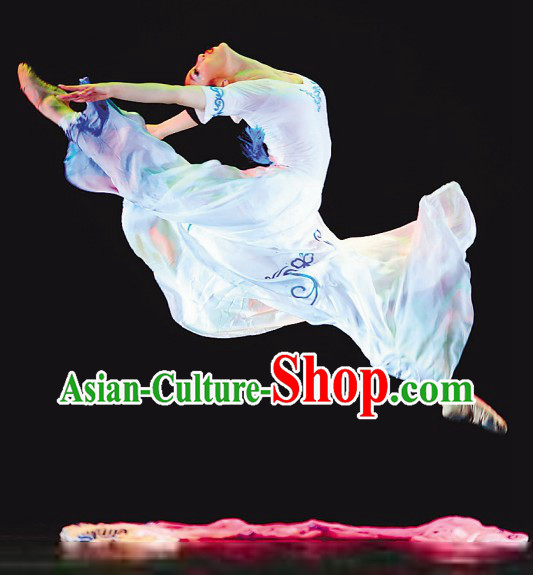 Chinese Classical White Dance Costume for Women