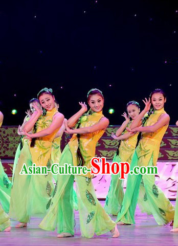 Chinese Folk Group Dance Costumes for Women