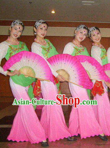 Chinese Folk Orchid Dance Costumes for Women