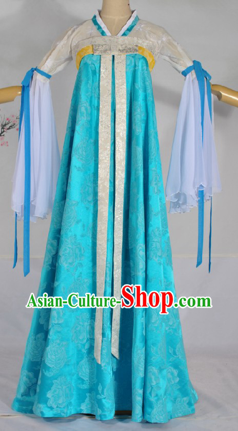 Ancient Chinese Tang Dynasty Palace Lady Costumes Complete Set