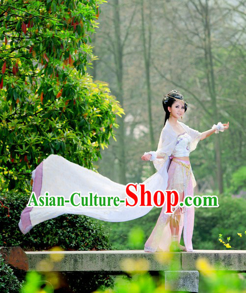 Ancient Chinese Swords Woman Costume Complete Set