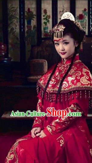 Chinese Classical Red Wedding Dress for Brides