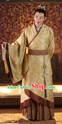 Ancient Chinese Prince Costume and Crown Set