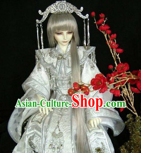 Ancient Chinese SD Prince Costume and Headpiece for Men