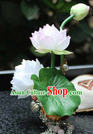 Traditional Chinese Handmade Lotus Hairpin