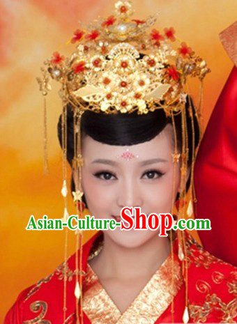 Ancient Chinese Princess Handmade Hair Accessories Wedding Phoenix Coronet