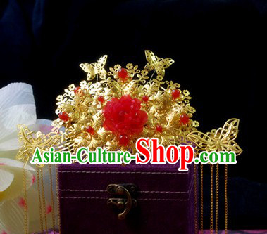 Ancient Chinese Handmade Wedding Phoenix Crown