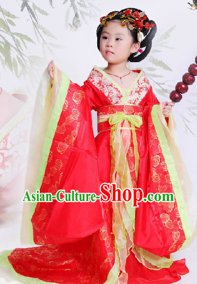 Ancient Chinese Tang Dynasty Princess Costume for Kids