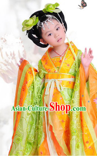 Ancient Chinese Tang Princess Costumes for Children