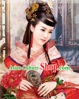 Ancient Chinese Handmade Hair Accessories and Earrings