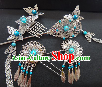 Ancient Chinese Handmade Hair Accessories Set for Women