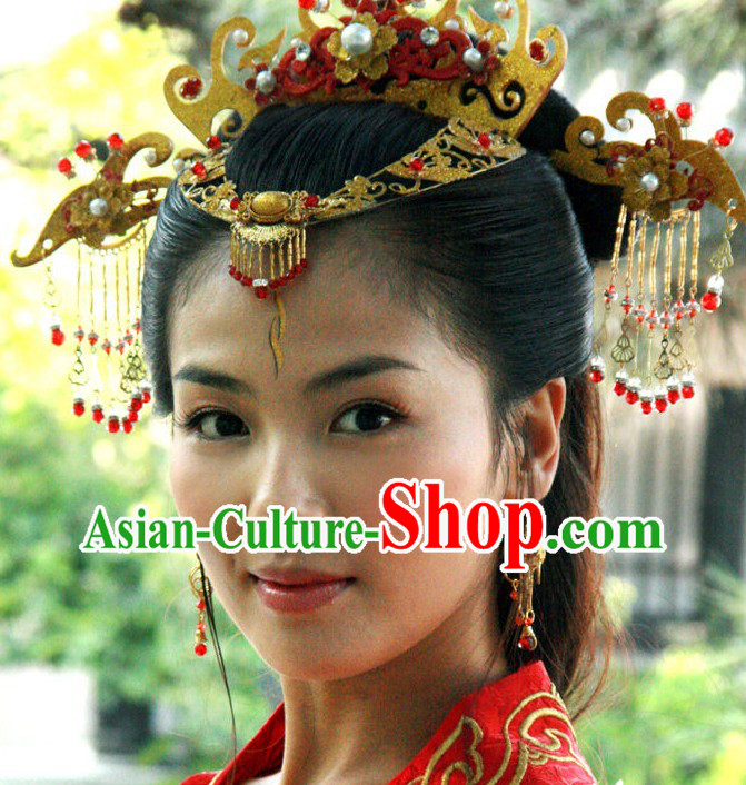 Ancient Chinese Empress Wedding Hair Accessories Complete Set for Brides