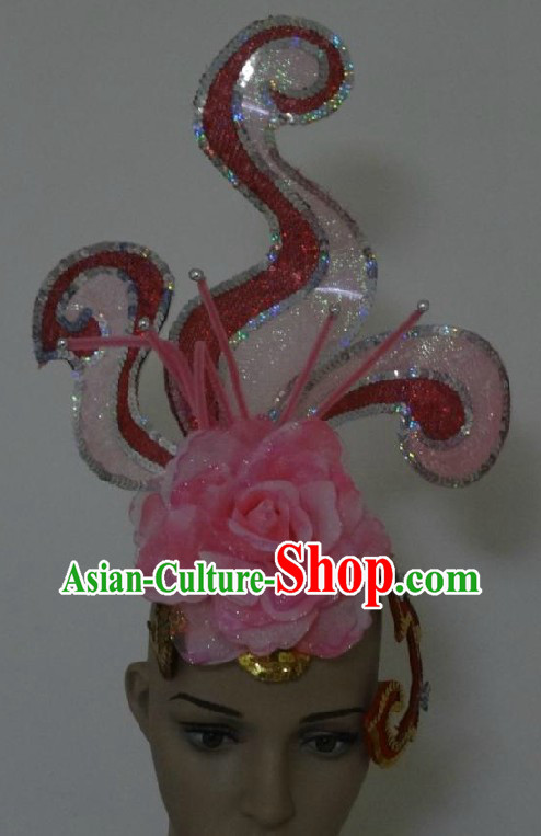 Traditional Chinese Tao Yao Handmade Stage Performance Headpiece