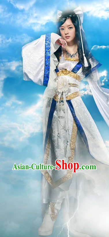 Ancient Chinese Swordswoman Cosplay Costumes