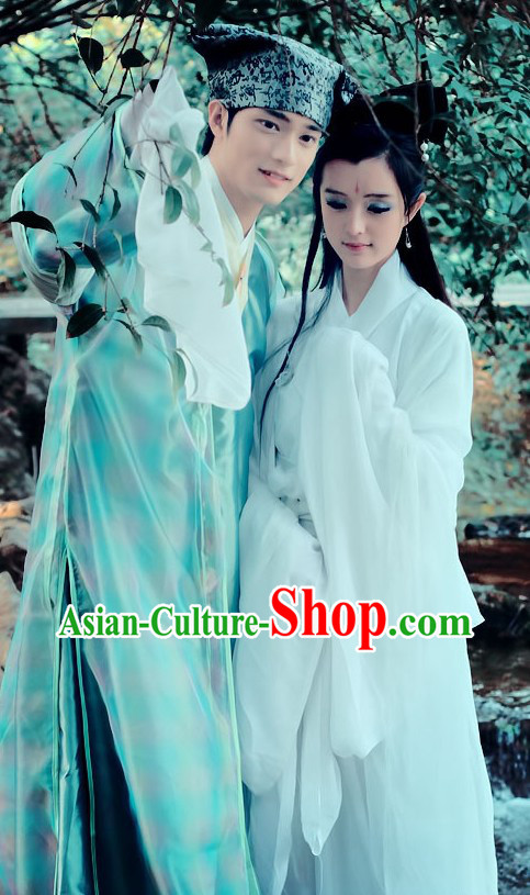 Ancient Chinese Qian Nv You Hun Drama Costumes for Men and Women