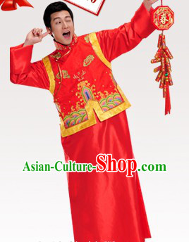 Chinese Classical Wedding Dress Complete Set for Men