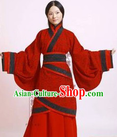 Chinese Classic Red Hanfu Wedding Dress for Brides