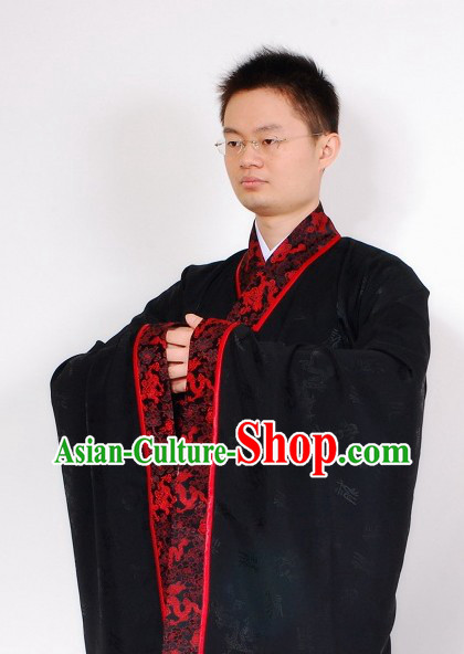 Han Dynasty Black Ceremonial Clothes for Men