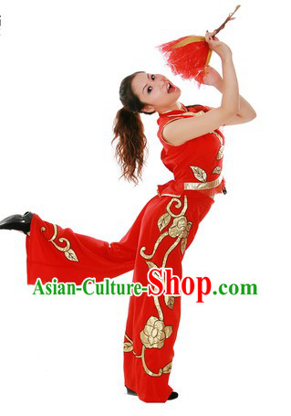 Traditional Chinese Dragon Dancer Costume for Women