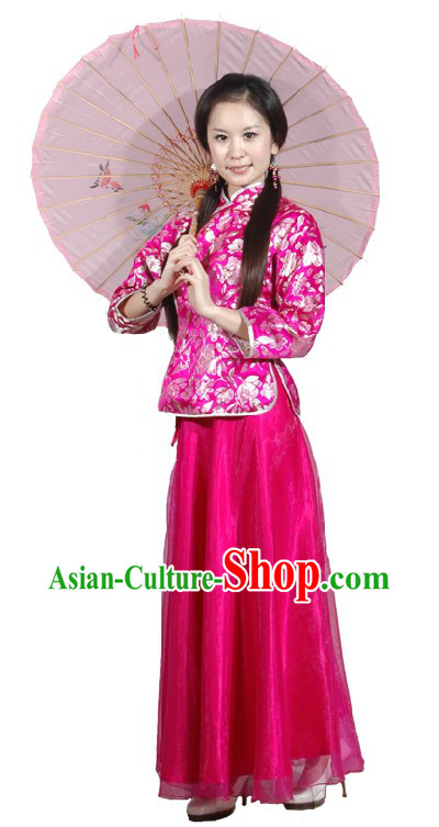 Chinese Classical Umbrella Dance Clothing for Women