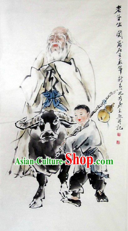 Traditional Chinese Painting of Lao Tzu by He Yixing