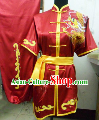 Chinese Classical Embroidered Dragon Tai Chi Uniform