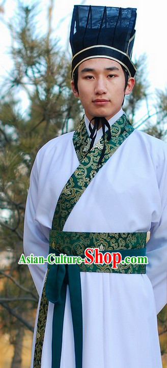 Ancient Chinese Royal Costume and Hat for Men