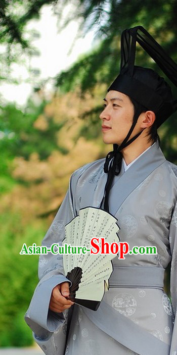 Ancient Chinese Official Costume and Hat for Men