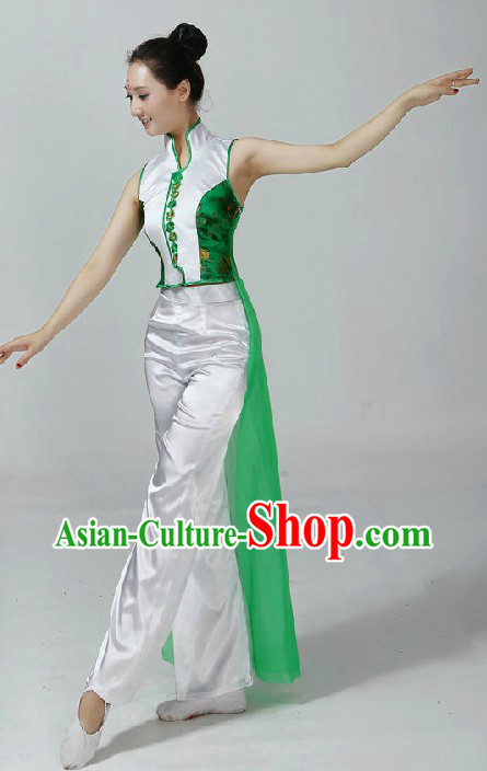 Chinese Classical Dance Costumes and Headpiece
