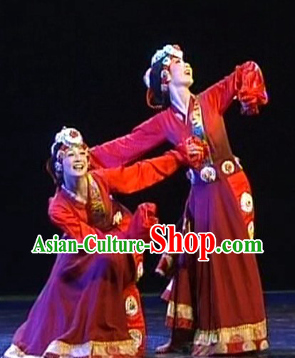 Long Sleeves Tibetan Clothing and Headpiece for Women