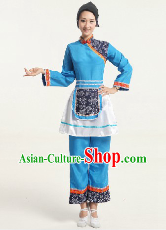Traditional Chinese Countrywoman Costumes for Women