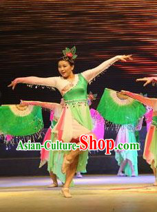 Traditional Chinese Jasmine Flower Dance Costumes for Women