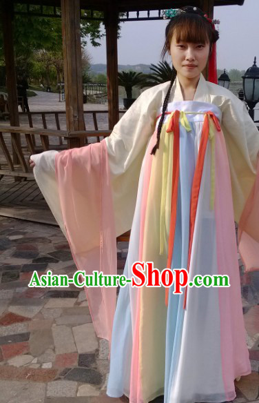 Tang Dynasty Colorful Ruqun Outfit for Girls