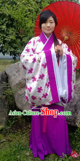Ancient Chinese Han Dynasty Spring and Autumn Wear Quju Suit for Girls