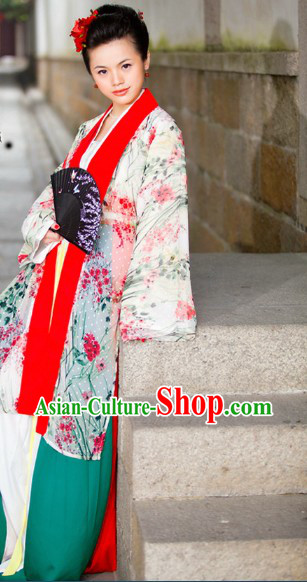 Chinese Classical Song Dynasty Lady Clothing Complete Set