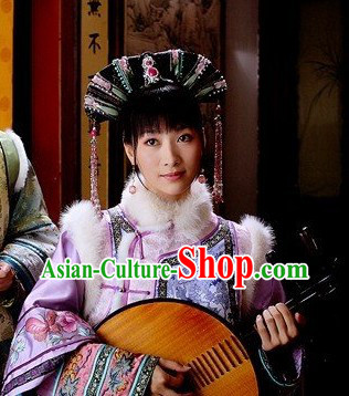 Qing Dynasty Manchu Empress Winter Jacket for Women