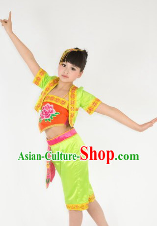 Traditional Chinese Mandarin Dance Costumes for Kids
