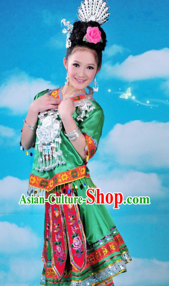Traditional Chinese Miao Costumes and Accessories for Women