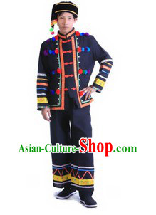 Traditional Chinese Minority Costumes and Accessories for Men