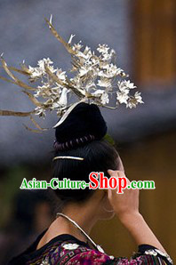 Traditional Chinese Miao Three Phoenixes Hair Accessories for Women