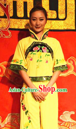 Chinese Stage Performance Yangge Dance Costume and Headwear for Women